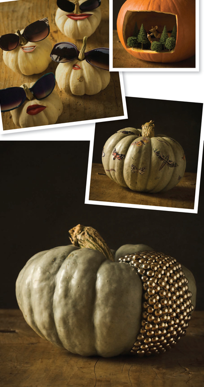 Decorating Chic Pumpkins for Halloween
