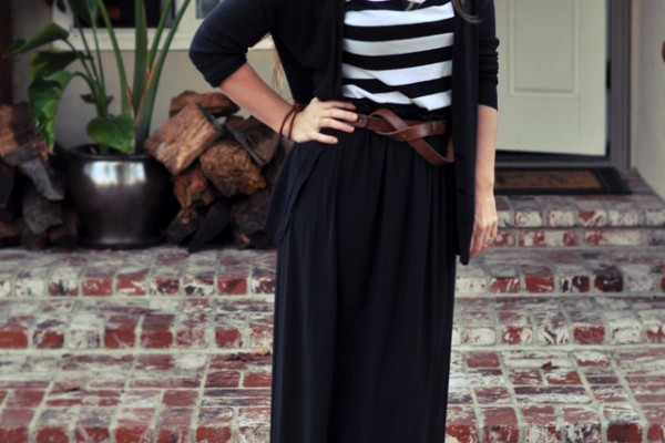 refashion a maxi dress into a maxi skirt