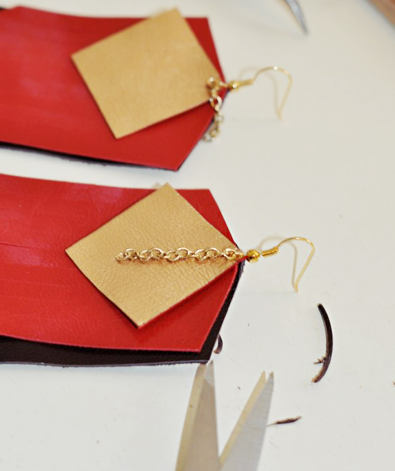 DIY Leather Fringe Earrings