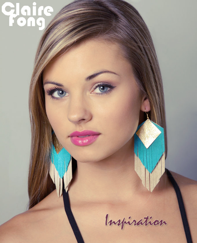 DIY Leather Fringe Earrings