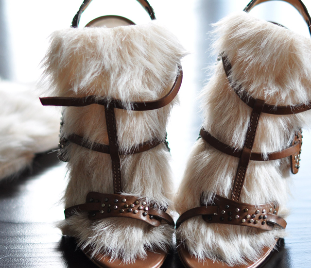 DIY Fur Sandals