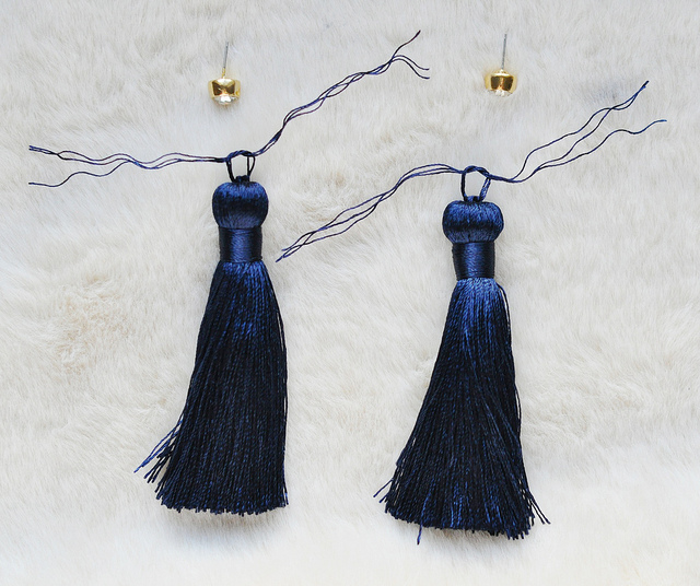 DIY Pretty Long Tassel Earrings
