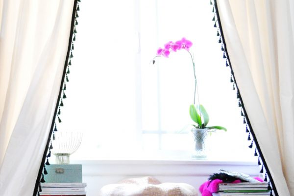 upgrade your curtains with simple tassel trim!