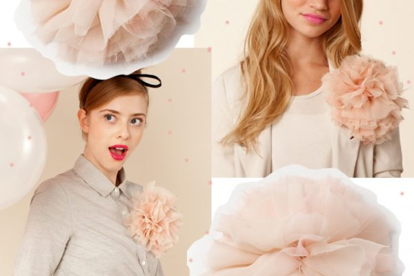 DIY French Pouf / Big floppy flower pin or hair accessory