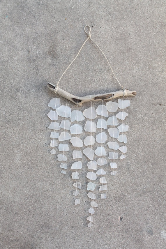 Sea Glass Driftwood Mobile -DIY Idea