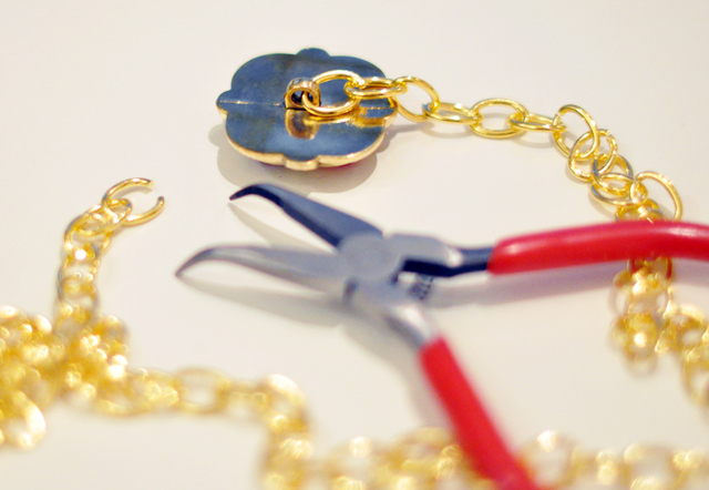 DIY 90s Gilded Jeweled Necklace - Versace/Chanel