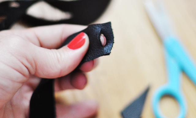 DIY Leather Cut Out Necklace