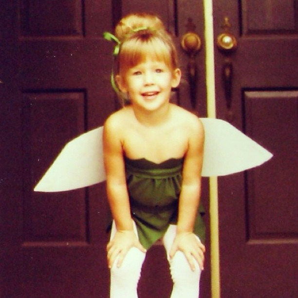 80s tinkerbell kid costume