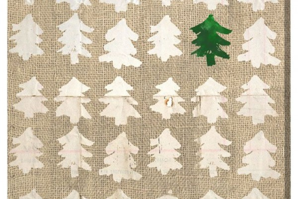 DIY Rustic Christmas Tree Print