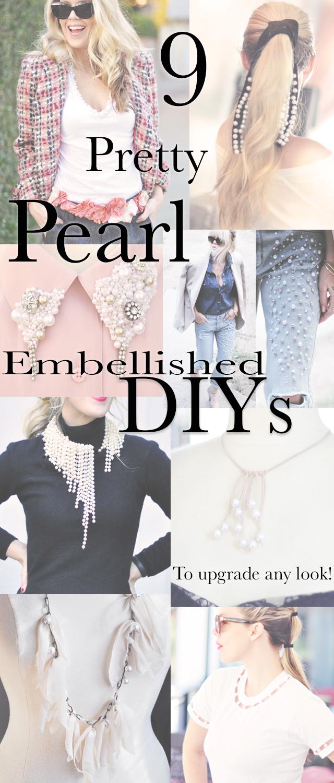 DIY blogs, Pretty Pearl Embellished DIYs