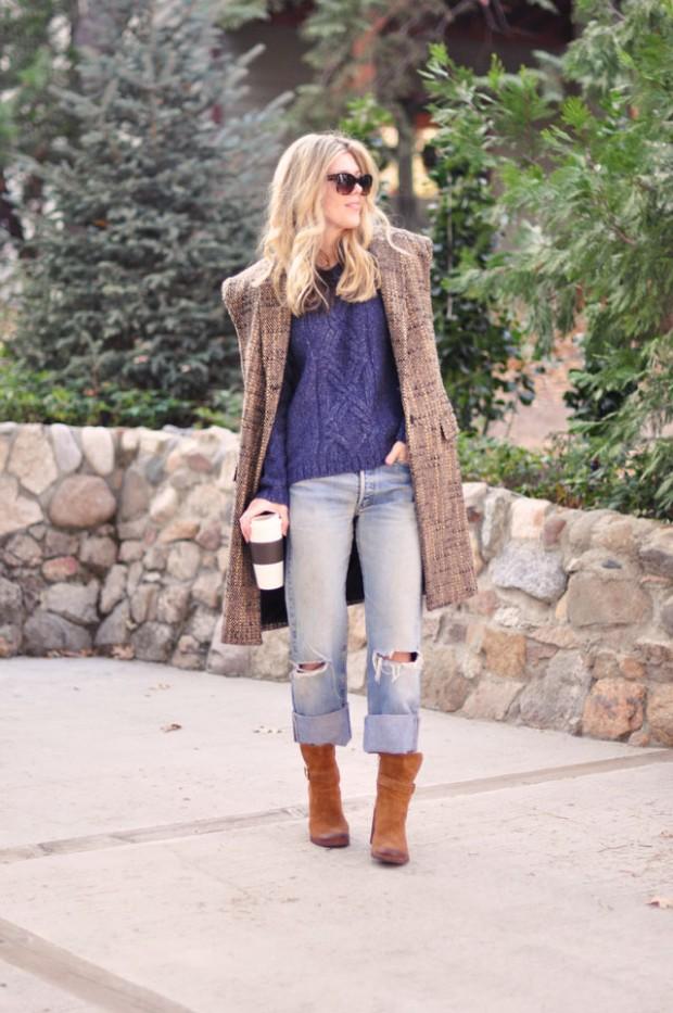 90s levis-sweater-tweed sleeveless jacket-boots