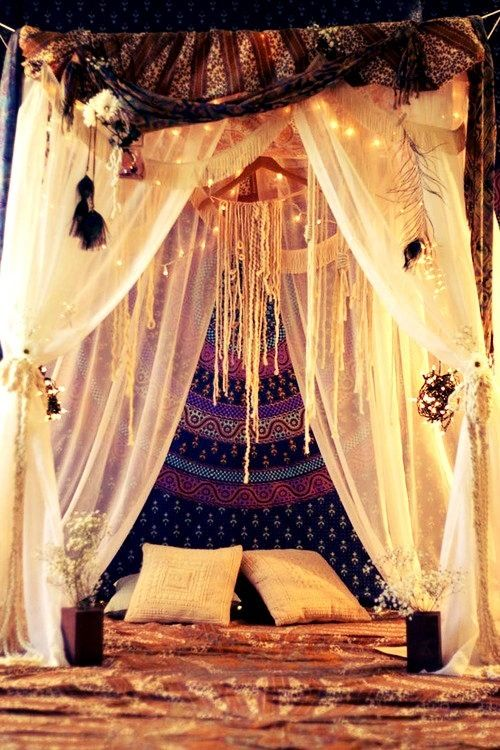 tented meditation space
