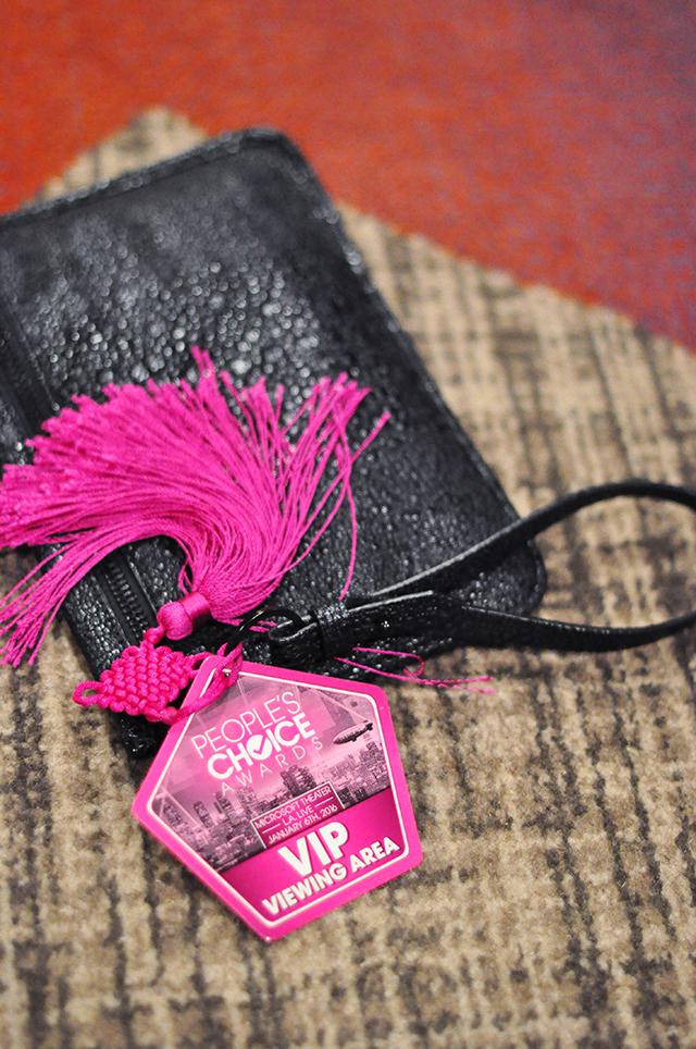 Alexander Wang wristlet_pink tassel_People's Choice VIP red carpet pass