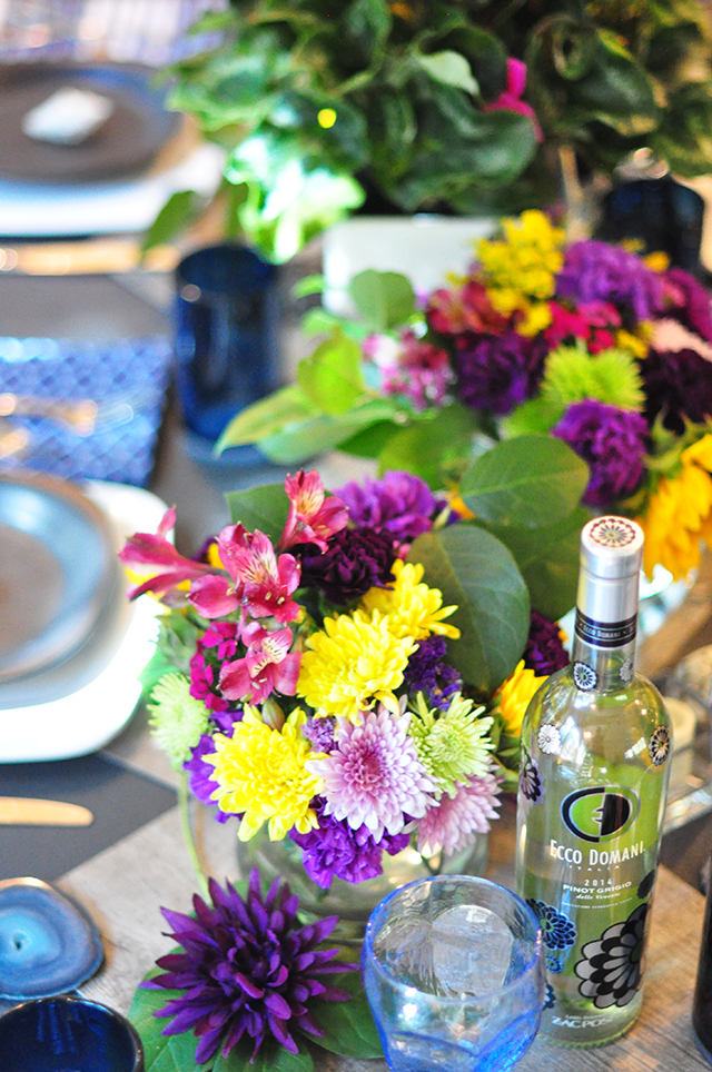 Arranging flowers for summer to fall tables