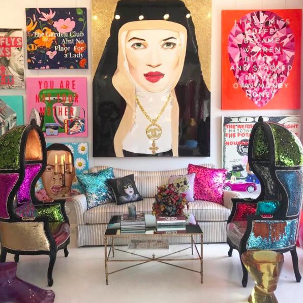 Ashley Longshore Art -paintings - studio