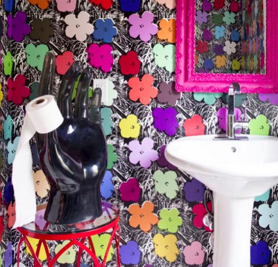 Ashley Longshore Art - powder room