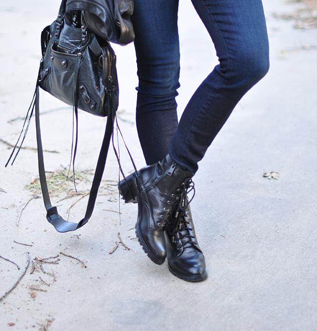 Balenciaga bag_jeans_lace up boots