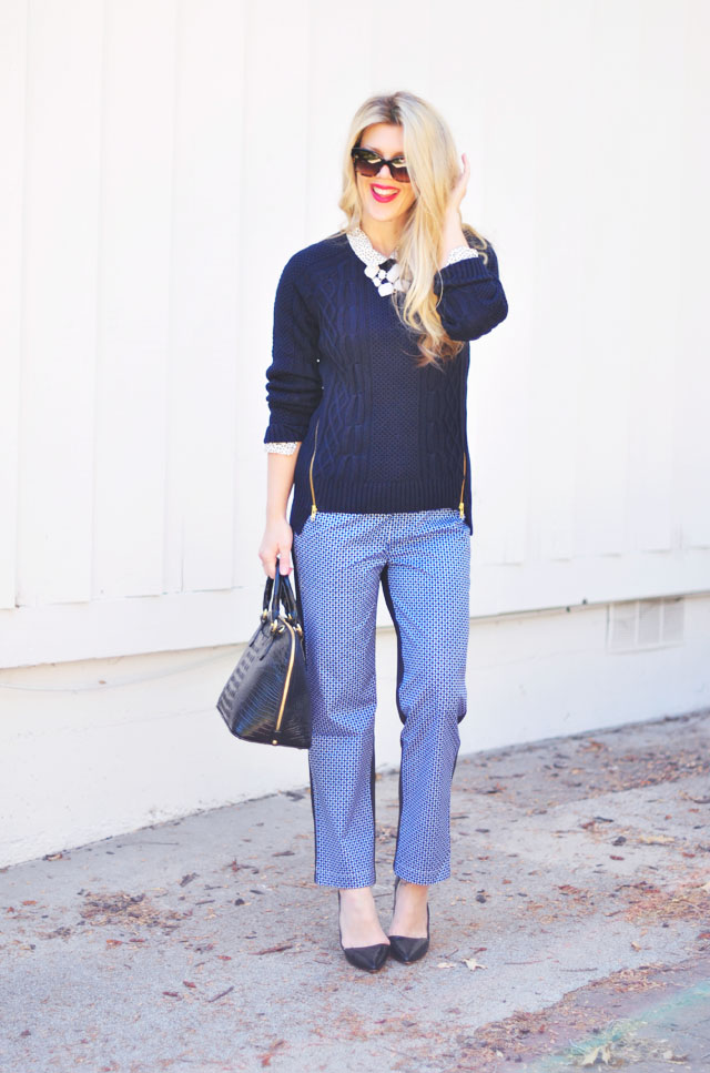 Black and blue and navy outfit