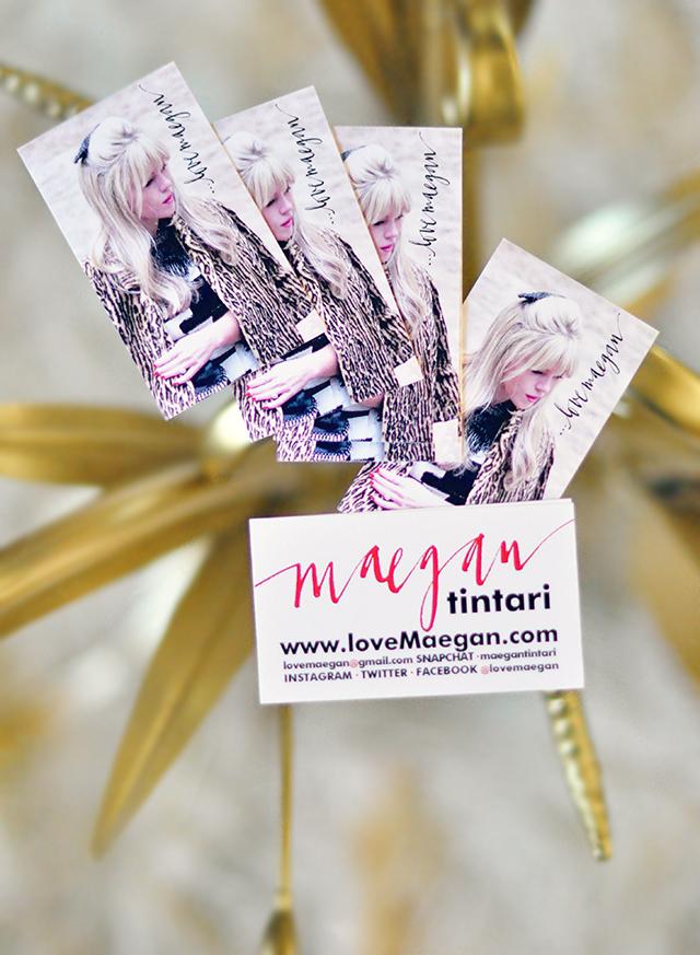 Blogger Business Cards- loveMaegan