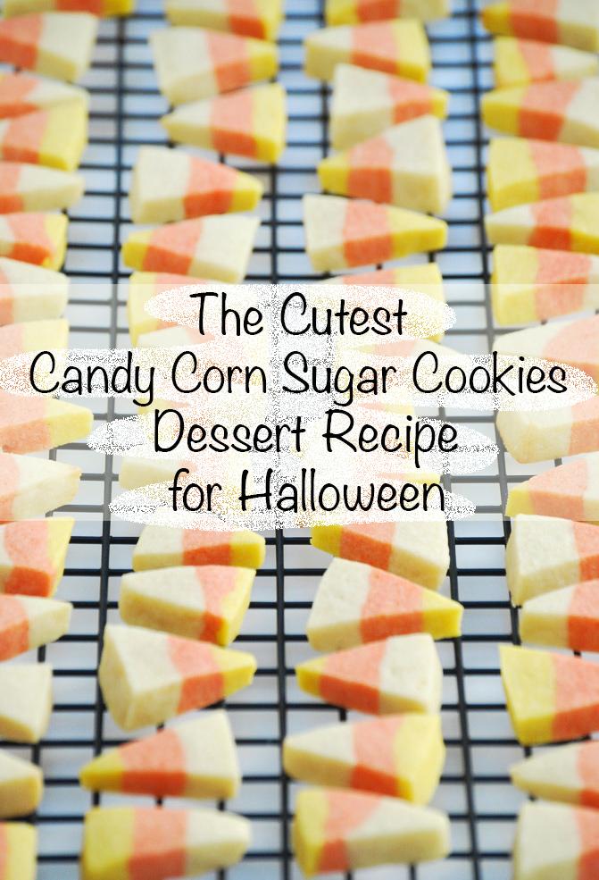 Candy-Corn-Sugar-Cookies for halloween dessert recipe