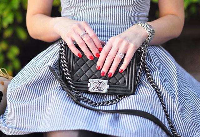 Chanel boy bag_searsucker dress