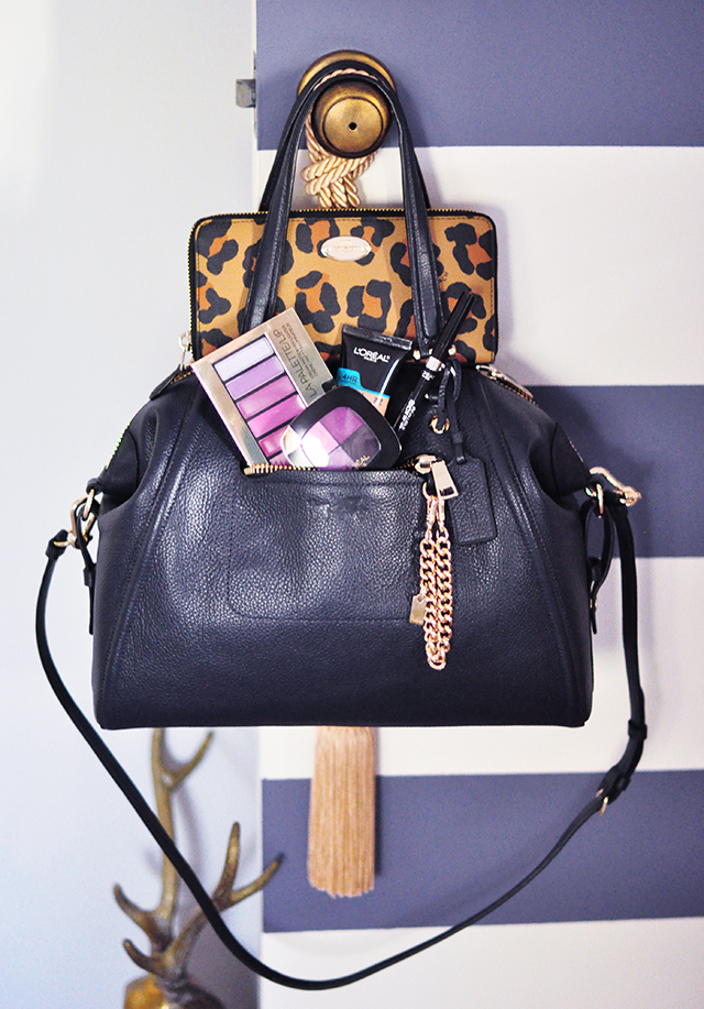 coach-bag_leopard-wallet_loreal-makeup_giveaway
