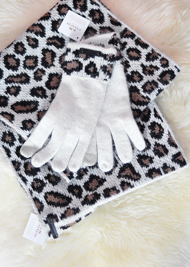 Coach scarf and gloves_leopard print