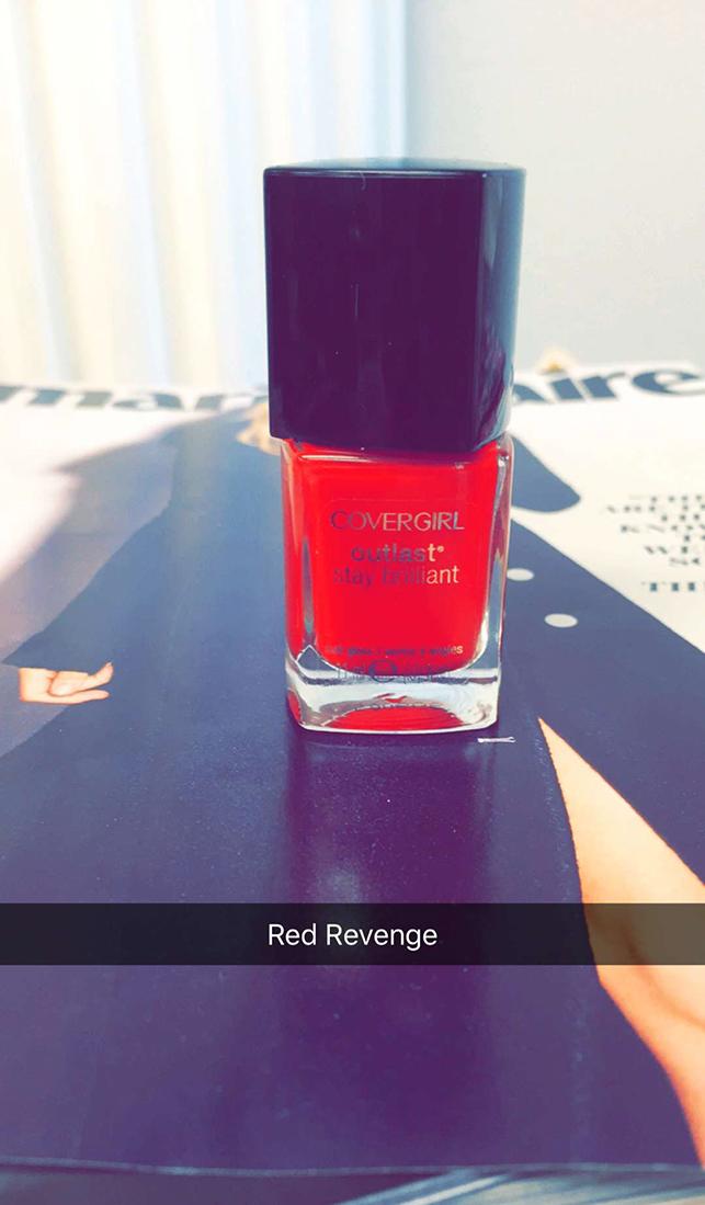 Covergirl nail polish red revenge