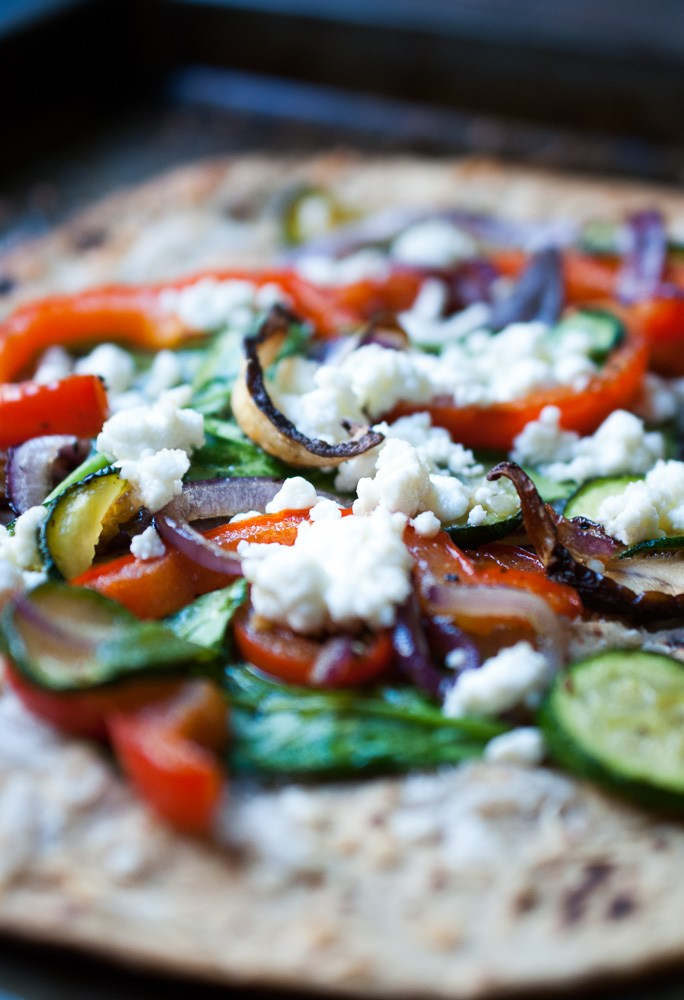 Crispy-Roasted-Veggie-Flatbread-Pizza