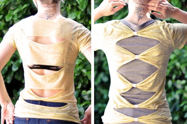 Cut out Tshirt DIY back