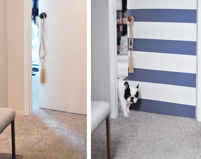 Cute door makeover _before and after