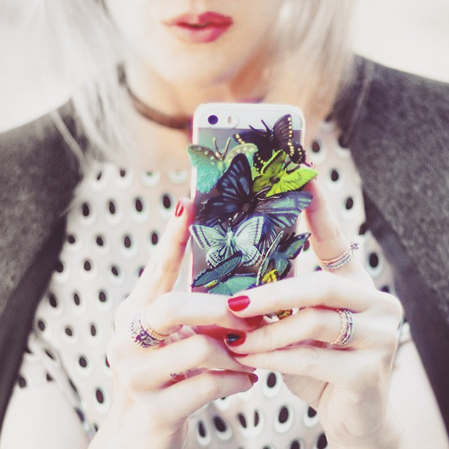 DIY 3D butterflies iphone case tutorial