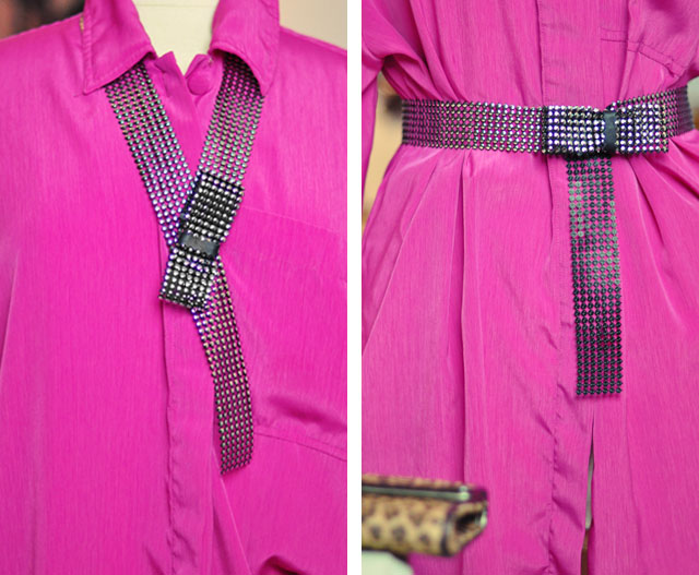 DIY Bow Belt and necklace