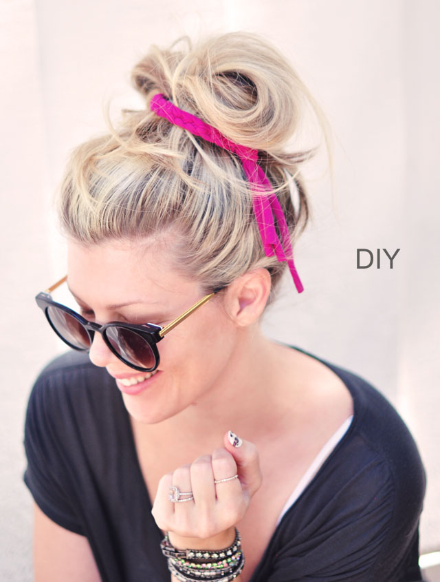 DIY Braided Jersey Hair Tie-12