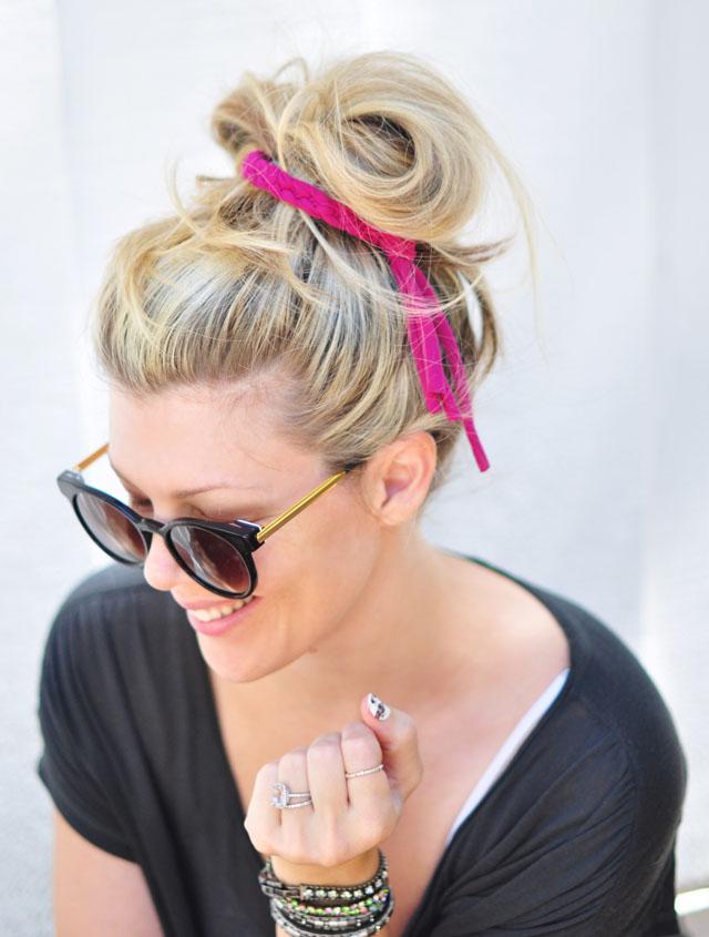 DIY Braided Jersey Hair Tie-7