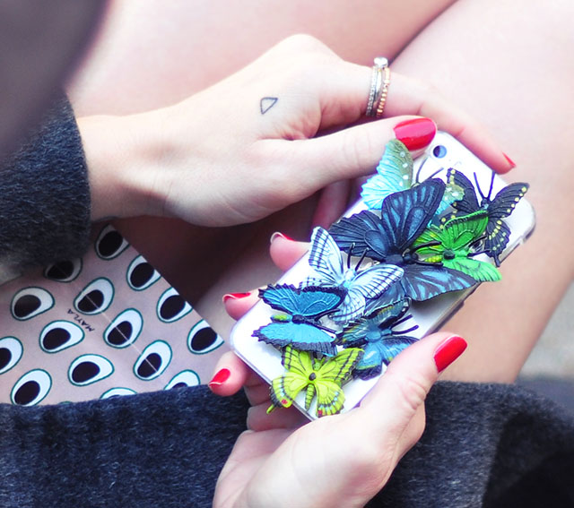DIY 3D Butterfly iPhone Case