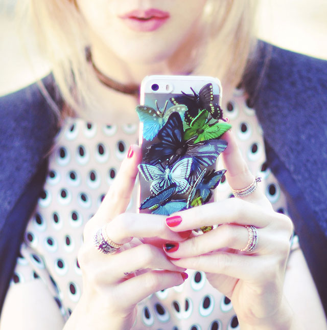 DIY Butterfly iPhone Case