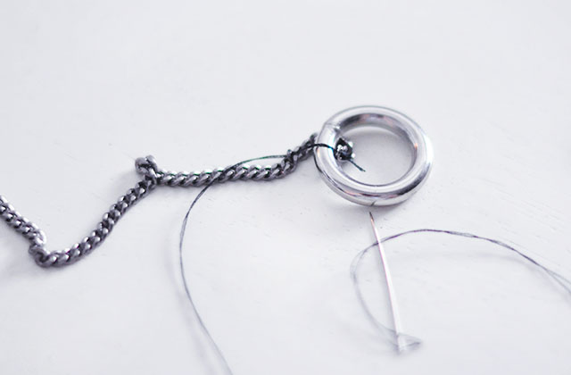 DIY Chain O Ring necklace-3
