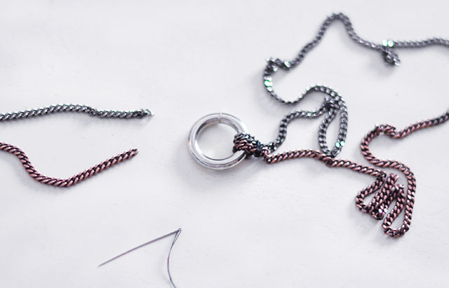 DIY Chain O Ring necklace-5