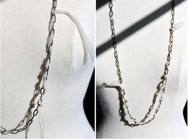 DIY Chain Pearl Lanvin Necklace
