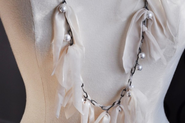 DIY Lanvin Chain and Pearl Necklace