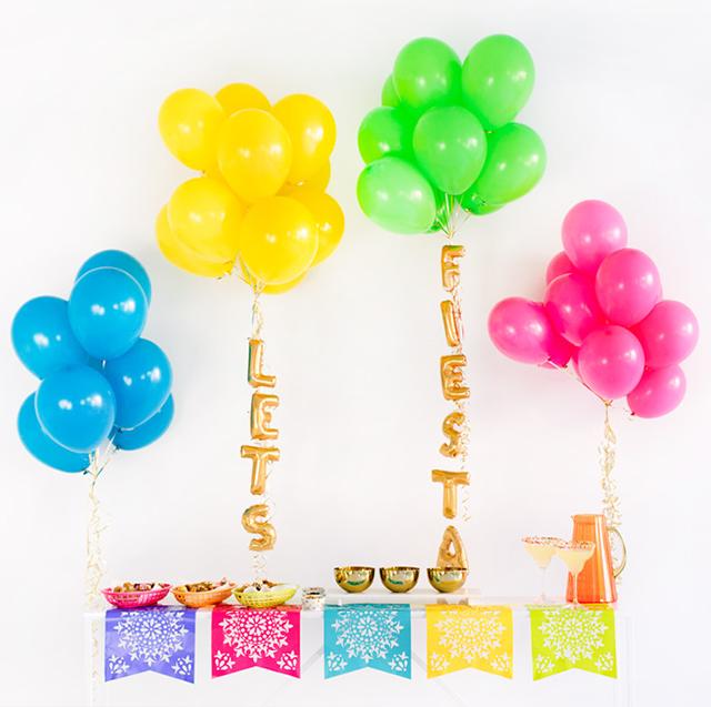 DIY Cinco De Mayo Party Ideas with balloons