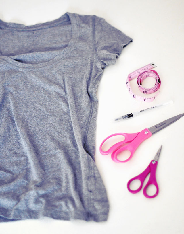 DIY Cut Out T-shirt- 1