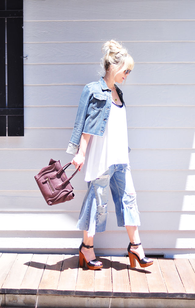 DIY Denim Culottes_Marni Platforms_Celine bag
