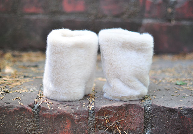 DIY Detachable Fur Cuffs for coats and jackets
