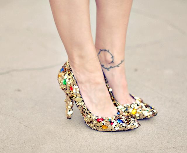 DIY Dolde and Gabbana embellished pumps