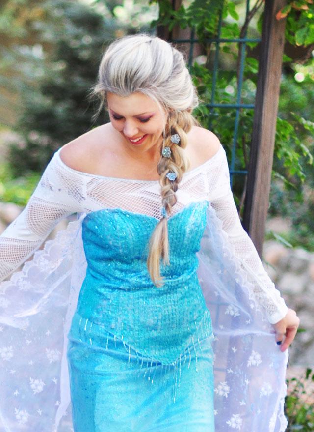 DIY Elsa Costume-halloween