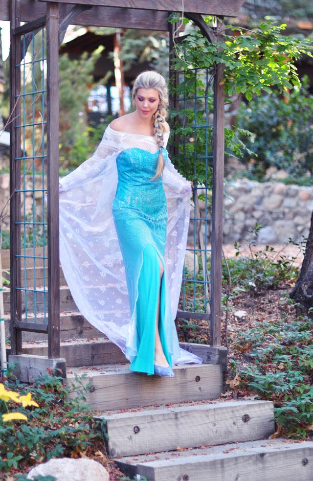 DIY Elsa snow queen Frozen costume