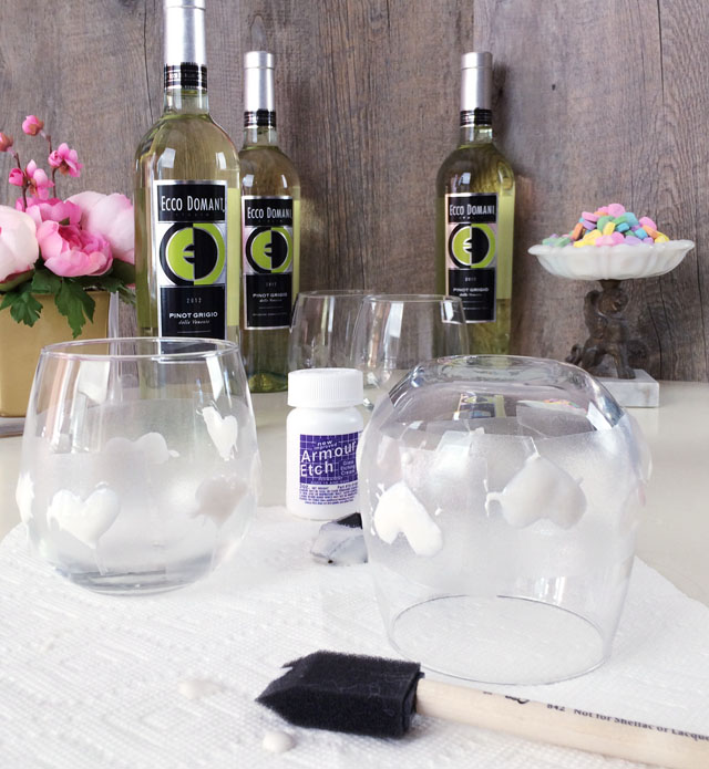 DIY Etched Wine Glasses - 6