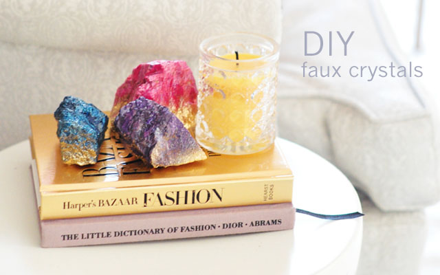 DIY Faux Crystals feature